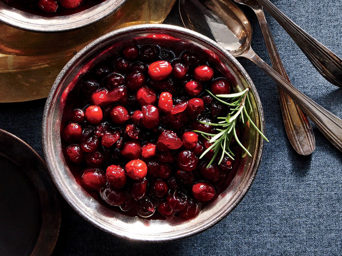 White Balsamic and Rosemary Cranberry Sauce