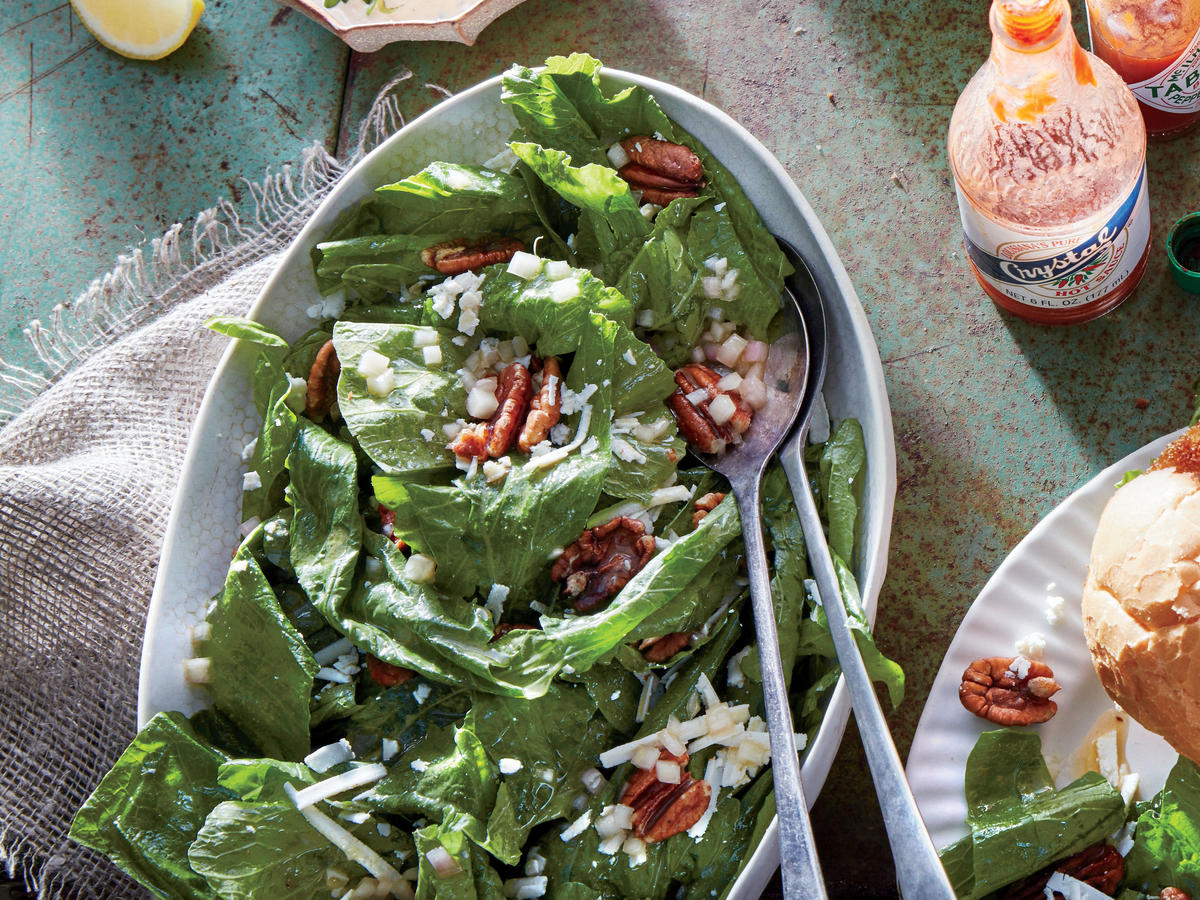 Turnip Green Salad with Tabasco Vinaigrette