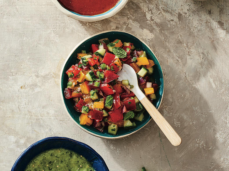 Pico de Gallo with Cucumber, Parsley, and Mint