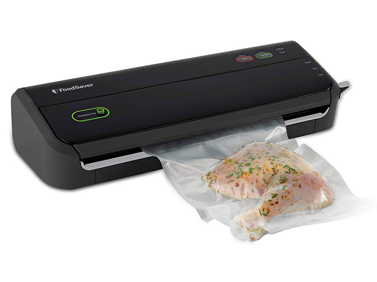 FoodSaver Vacuum Sealer Machine with Starter Bags & Rolls