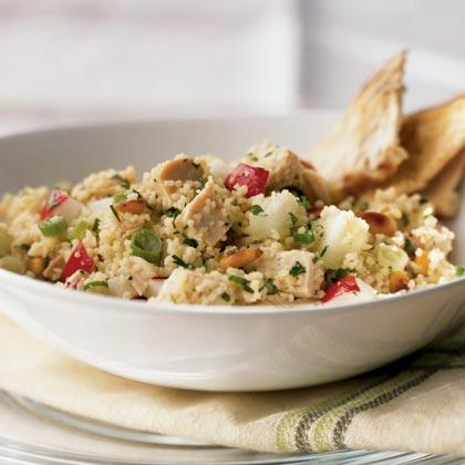A great way to use leftover chicken, this 20-minute dinner salad uses quick-to-cook couscous and lots of brightly flavored herbs.Watch the VideoChicken and Couscous Salad