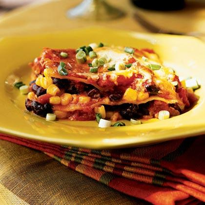 Use different salsa to vary the flavor of this lasagna. Make it smoky with chipotle salsa, or spice it up with the hot stuff.Watch the VideoTex-Mex Lasagna Recipe