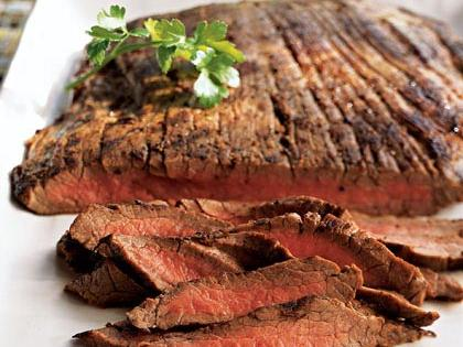 Basic Grilled Flank Steak RecipeSimply seasoned with Worcestershire sauce, salt and pepper, this flavorful flank steak is great main dish on its own, but because the seasonings are so subtle, it's versatile enough to use in salads, sandwiches, and wraps.