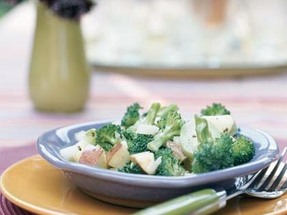 Broccoli and Apple Salad RecipeSweet, crunchy apple and broccoli create a refreshing, light side dish. Prepare this salad up to eight hours in advance for best flavor and texture.