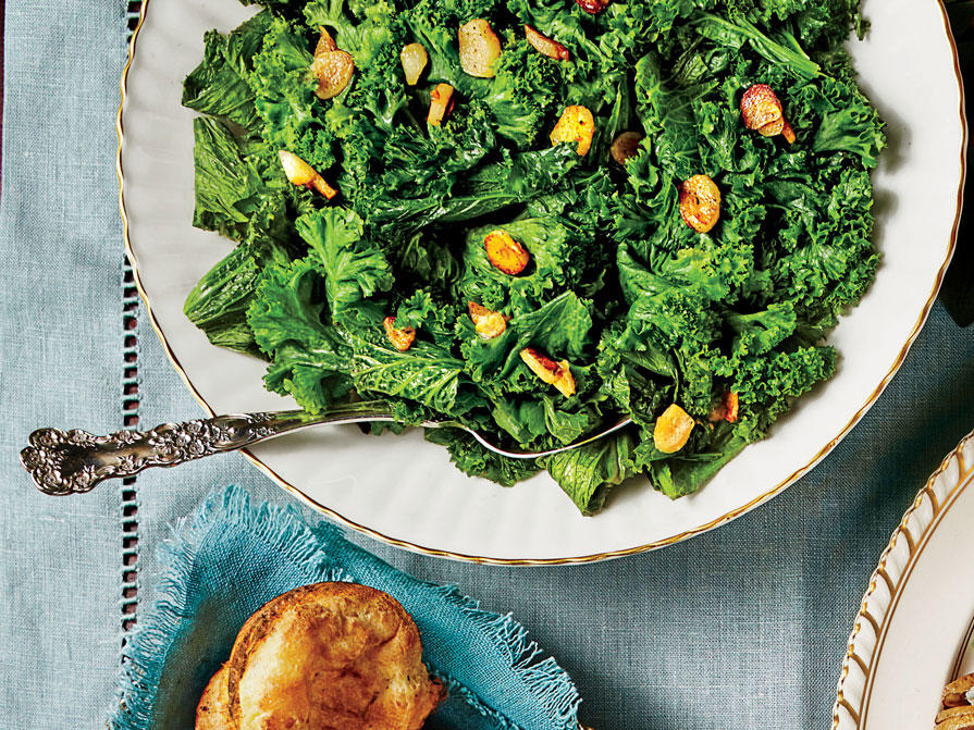 Sauteed Mustard Greens with Garlic and Lemon image