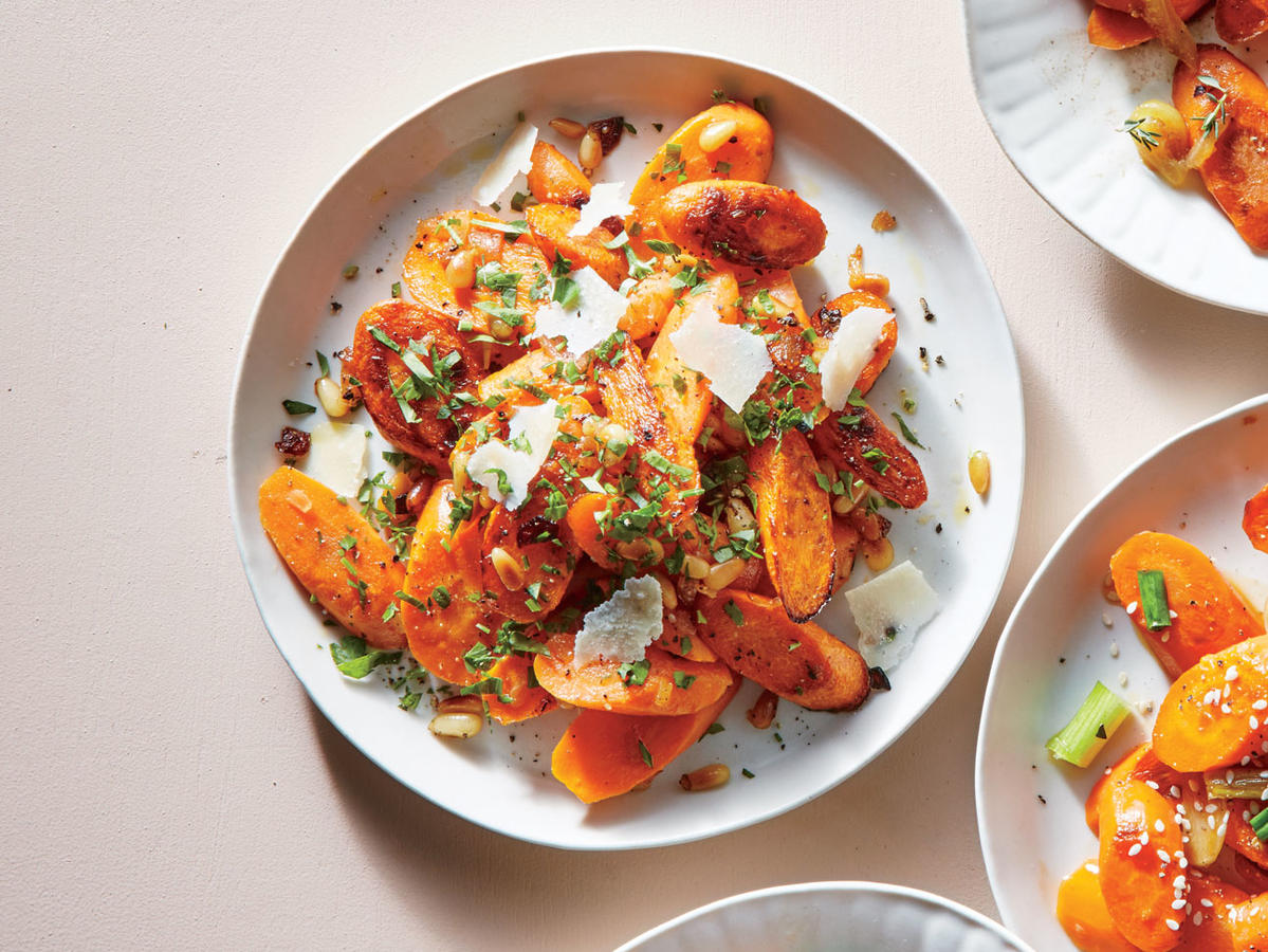 Parmesan Carrots with Lemon-Parsley Dressing image