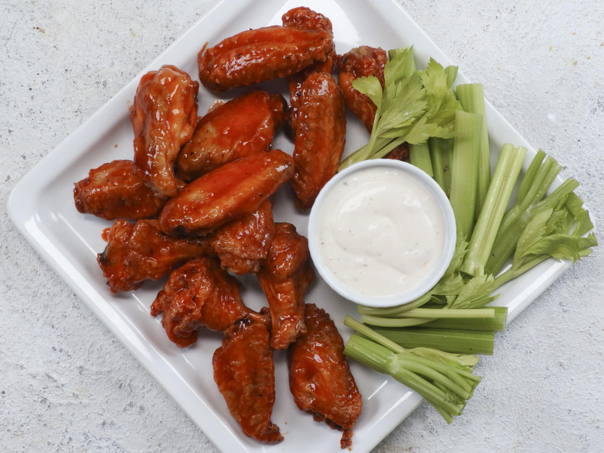 Crispy Oven-Roasted Buffalo Wings image
