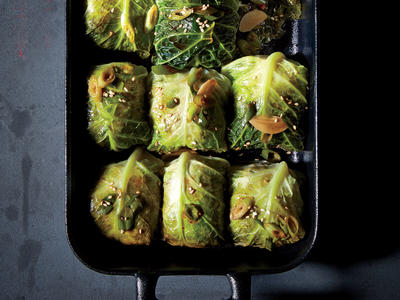 Pork and Broken Rice Cabbage Rolls