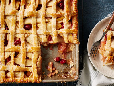 Cranberry-Apple Slab Pie