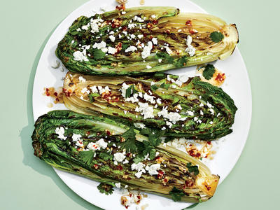 Grilled Romaine with Feta and Nuoc Cham