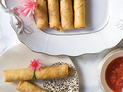 Shrimp-and-Pork Spring Rolls