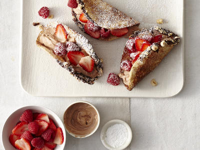 Nutella and Red Berry Dessert Tacos image