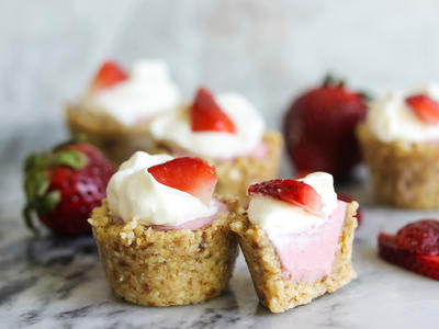 Vegan Mini Strawberry Coconut Cream Pies