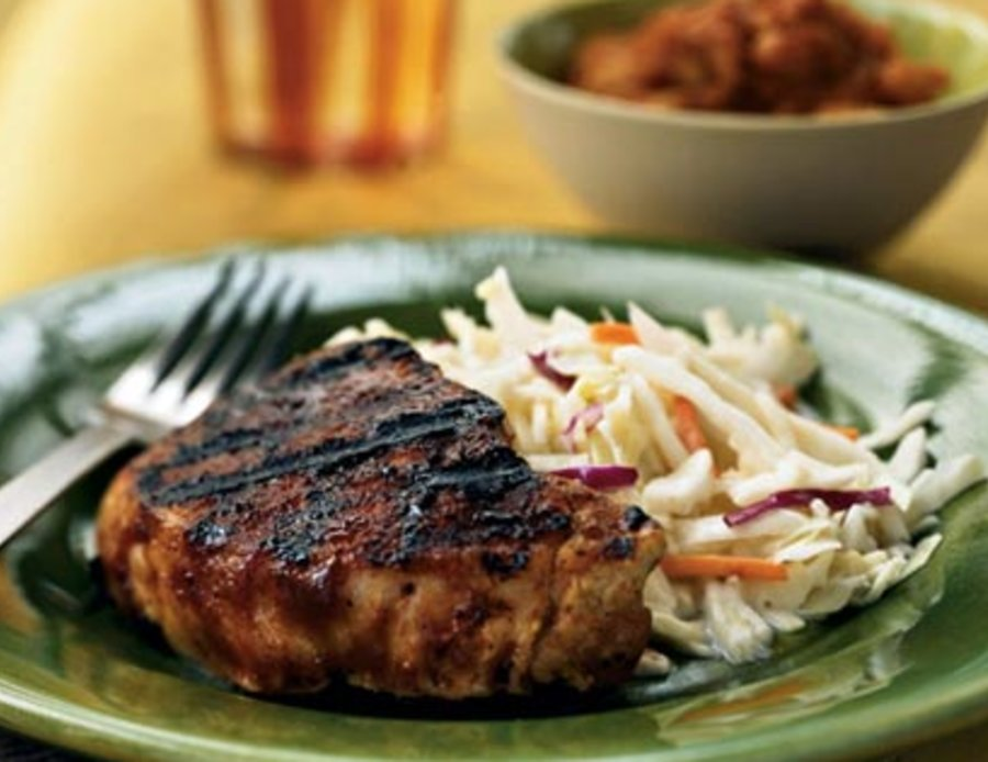 Pork Chops with Carolina Rub