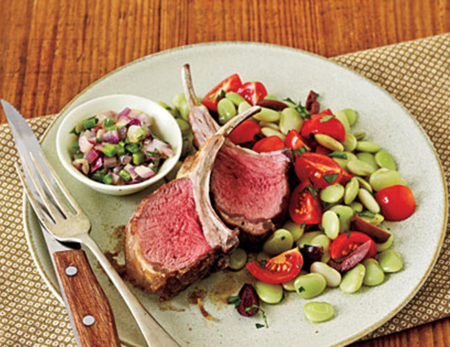 Lamb Chops and Cilantro Relish