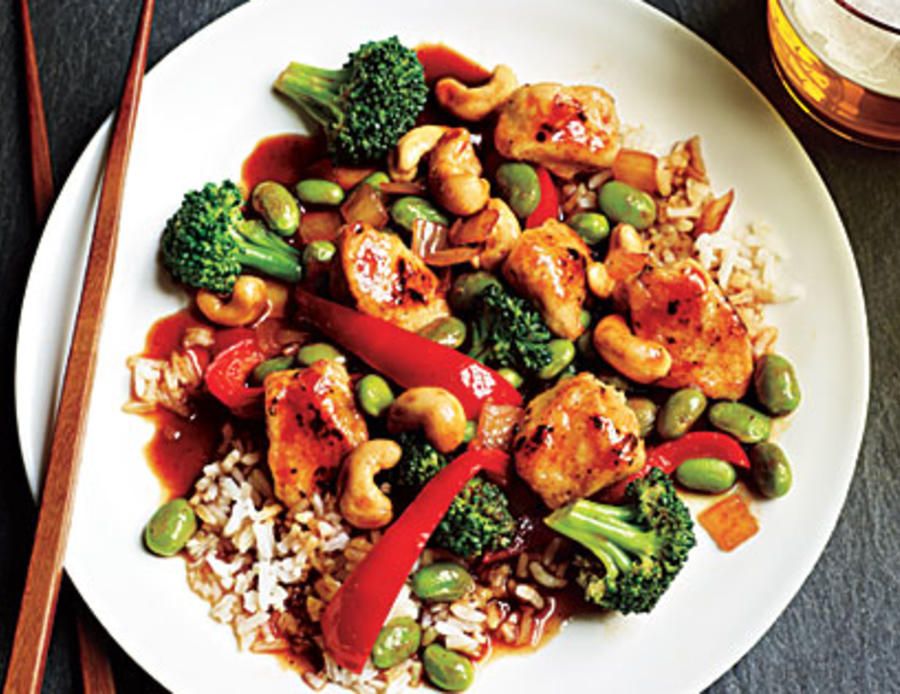 Honey Cashew Chicken with Rice