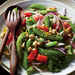 Blistered Snap Peas with Fish Sauce Vinaigrette, Roasted Cashews, and Basil Recipe