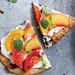 Tomato and Peach Flatbreads and Basil