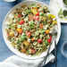 Pesto Pasta Salad with Tomatoes and Mozzarella