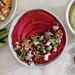 Beet Hummus with Blue Cheese and Walnuts