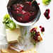 Boysenberry Wine Compote with Goat Cheese and Basil