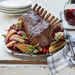 Cranberry-Balsamic Glazed Pork Rack with Fennel, Apples, and Pears Recipe