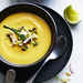 Creamy Squash Soup with Salad Topping