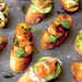 Crostini with Jerk Shrimp and Pineapple Chutney Recipe