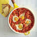 Eggs Poached in Tomato Sauce with Garlic Cheese Toasts Recipe