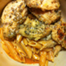 Garlic Pesto Chicken with Tomato Cream Penne Recipe