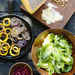Green Salad with Almonds, Charred Onion, and Pomegranates Recipe
