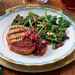 Grilled Pork Loin Steaks with Cherry-Plum Sauce Recipe