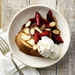 Grilled Pound Cake with Brandied Red Plums