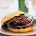 "Portobello ""Steak"" Burger with Caramelized Onions"