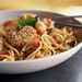 Shrimp, Tomato, and Basil Linguine with Warm Goat Cheese Rounds Recipe