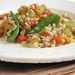 Barley Pilaf with Roasted Peppers and Snow Peas Recipe