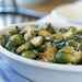 Roasted Brussels Sprouts with Ham and Garlic Recipe