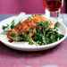 Salmon with Wilted Watercress and Balsamic Drizzle