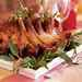 Maple and Calvados-Glazed Pork Crown Roast with Apple-Chestnut Puree Recipe