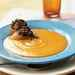 Yellow Pepper Soup with Wild Mushroom Croutons Recipe