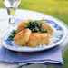 Cornmeal-Crusted Scallops with Mint Chimichurri Recipe