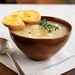 Golden Potato-Leek Soup with Cheddar Toasts