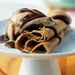 Espresso Crepes with Ice Cream and Dark Chocolate Sauce