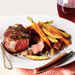 Beef Filets with Red Wine Sauce and Roasted Veggie Fries Recipe