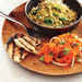 Red Lentil Dal with Carrot Salad and Coriander Flatbreads Recipe