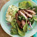 Steak with Lemon-Herb Pesto and Spinach Salad Recipe