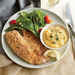 Oven-Fried Tilapia with Cheesy Polenta Recipe