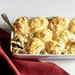Turkey Posole Casserole with Cornmeal Biscuit Topping