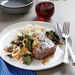Seared Steak with Braised Leeks and Chard Recipe