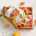 Green, Egg, and Ham Waffle Recipe